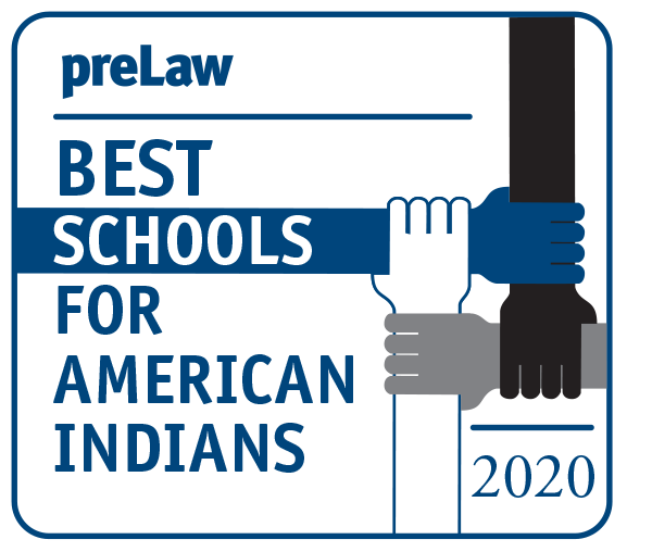 preLaw 2020 Best Schools for American Indians badge