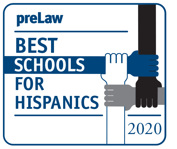preLaw 2020 Best Schools for Hispanics badge