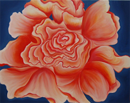 Night Bloom, oil on canvas by Lauren Marek