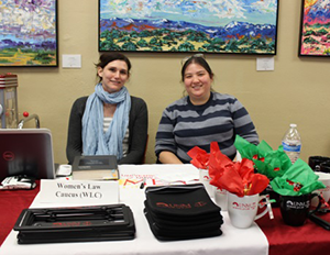 Dana Beyal, 1L Representative, and Ashley MacKenzie, Secretary of the Women's Law Caucus (WLC).
