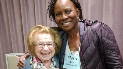 Prof. Sherri Burr and Ruth Westheimer