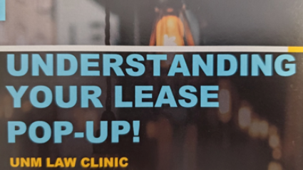 Understanding your lease pop up